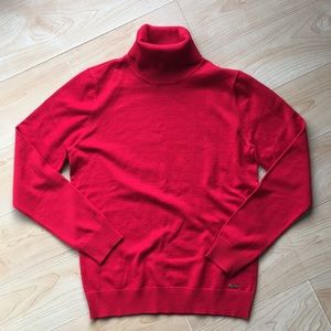 Calvin Klein Women's red turtleneck sweater